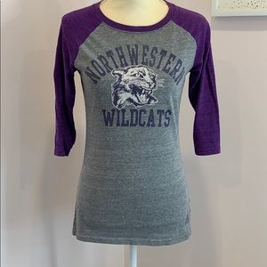 Northwestern Wildcat 1/4 Sleeve Shirt